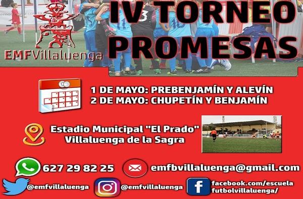 IV Torneo Promesas en Villaluenga de la Sagra (Toledo) - 1 y 2 de Mayo de 2020