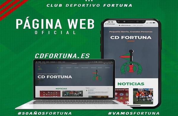 El C.D. Fortuna estrena Página Web en el año de su 50 Aniversario
