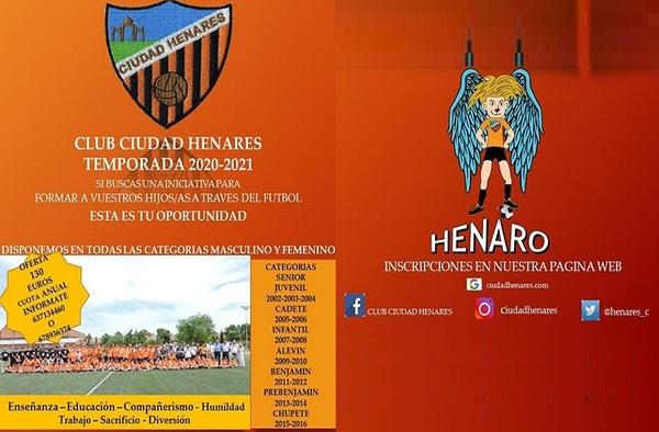 Periodo de Inscripción en el Club Ciudad Henares - Temporada 2020/21
