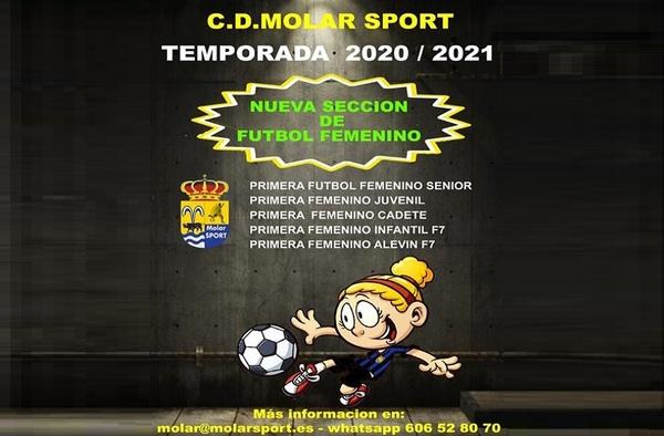 El Molar Sport crea la Sección Femenina del club para la temporada 2020/21