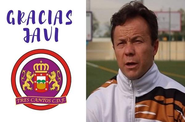 Javier García no sigue como entrenador del Tres Cantos CDF para la temporada 2020/21