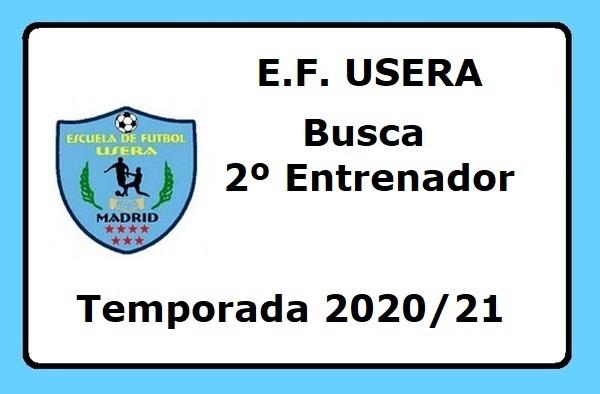 La EF Usera busca 2º Entrenador para equipo Cadete y Aficionado - Temporada 2020/21
