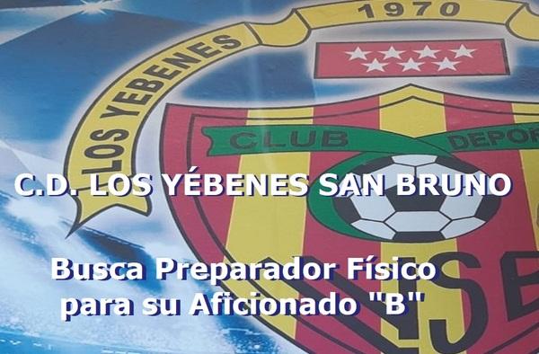 """Los Yébenes San Bruno busca Preparador Físico para su Aficionado """"B"""" - Temporada 2020/21"""