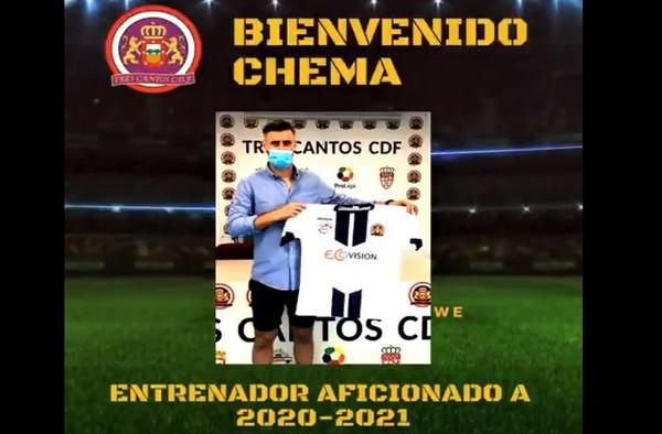 Ya es oficial el nombramiento de Chema Hidalgo como nuevo entrenador del Tres Cantos CDF para la temporada 2020/21