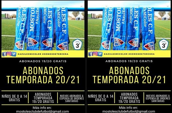 Campaña de Abonados del Móstoles CF en Tercera División