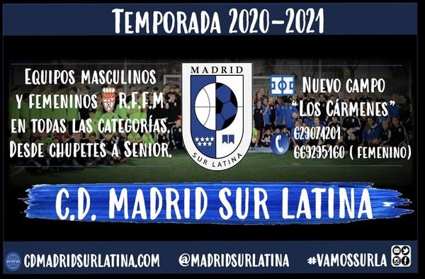 El C.D. Madrid Sur Latina, club del distrito Latina, planifica la próxima temporada 2020-2021