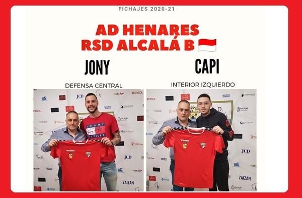 El filial del Alcalá se refuerza con Jony y Capi - Temporada 2020/21