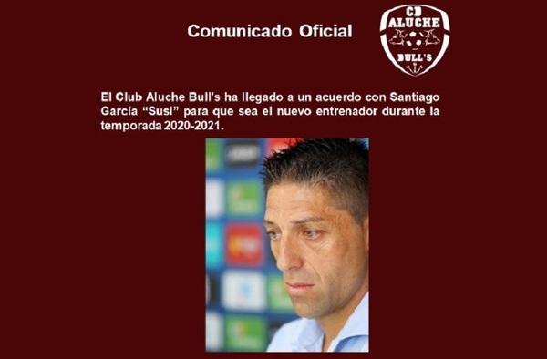 """Santiago García """"Susi"""", nuevo entrenador del C.D. Aluche Bull´s para la temporada 2020/21"""