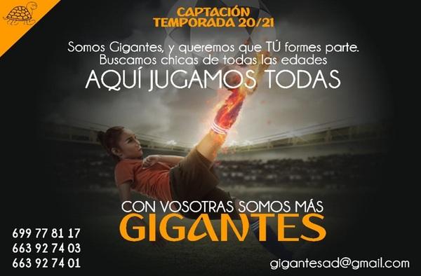 A.D. Gigantes busca jugadoras para su Senior Femenino - Temporada 2020/21