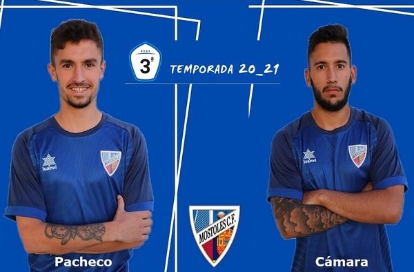Víctor Pacheco y Sergio Cámara, las dos primeras renovaciones del Móstoles C.F. para su incursión en Tercera División