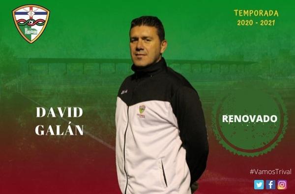 El C.F. Trival Valderas anuncia la continuidad de David Galán en el banquillo