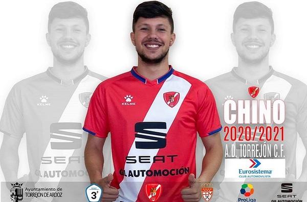 """Sergio Llorente """"Chino"""", fichaje de la A.D. Torrejón C.F. para la temporada 2020/21"""