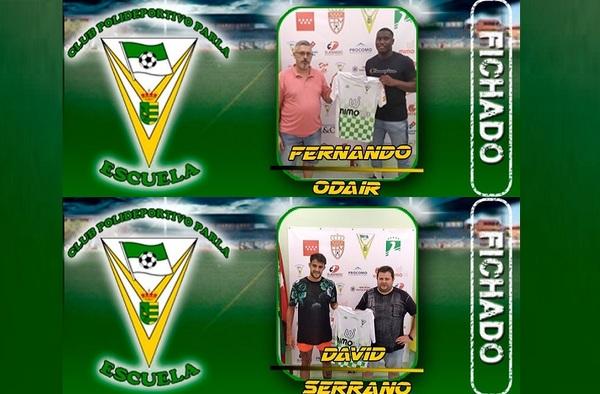 David Serrano y Fernando Odair, se incorporan al Parla Escuela para la temporada 2020/21