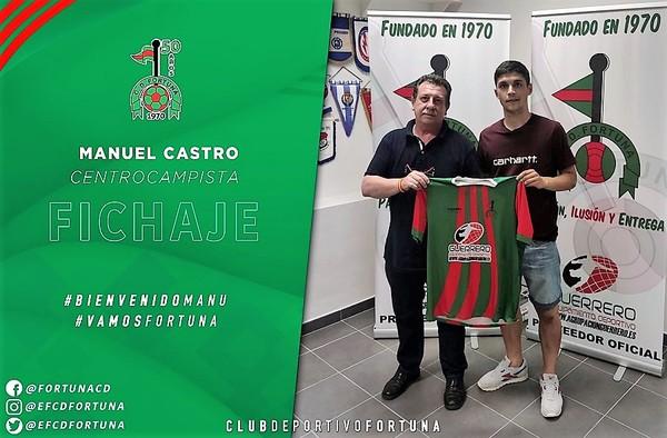 """El jovencísimo Manu Castro recala en el C.D. Fortuna tras ascender a 2ª División """"B"""" con el Navalcarnero"""