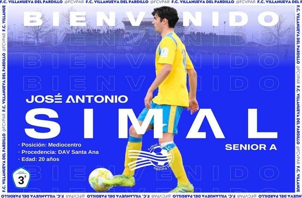 Simal es nuevo jugador del Villanueva del Pardillo para la temporada 2020/21