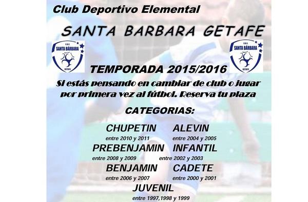 Abierto el plazo de inscripción para jugar en el CDE Santa Bárbara Getafe (Temporada 2015/16)