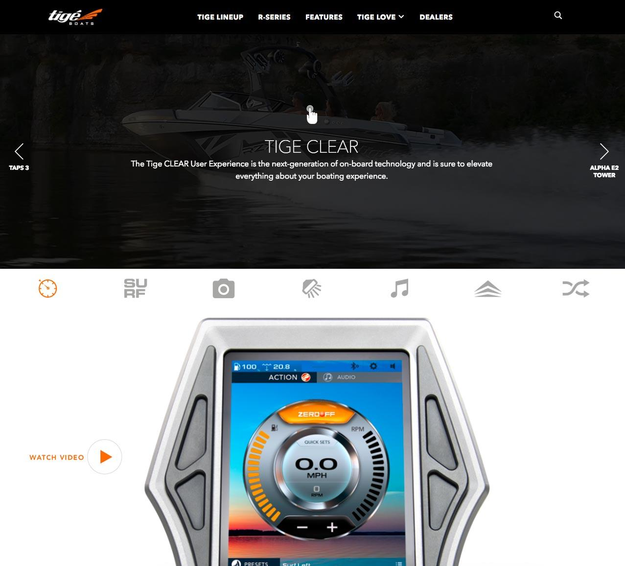 Web Design for Luxury Boats