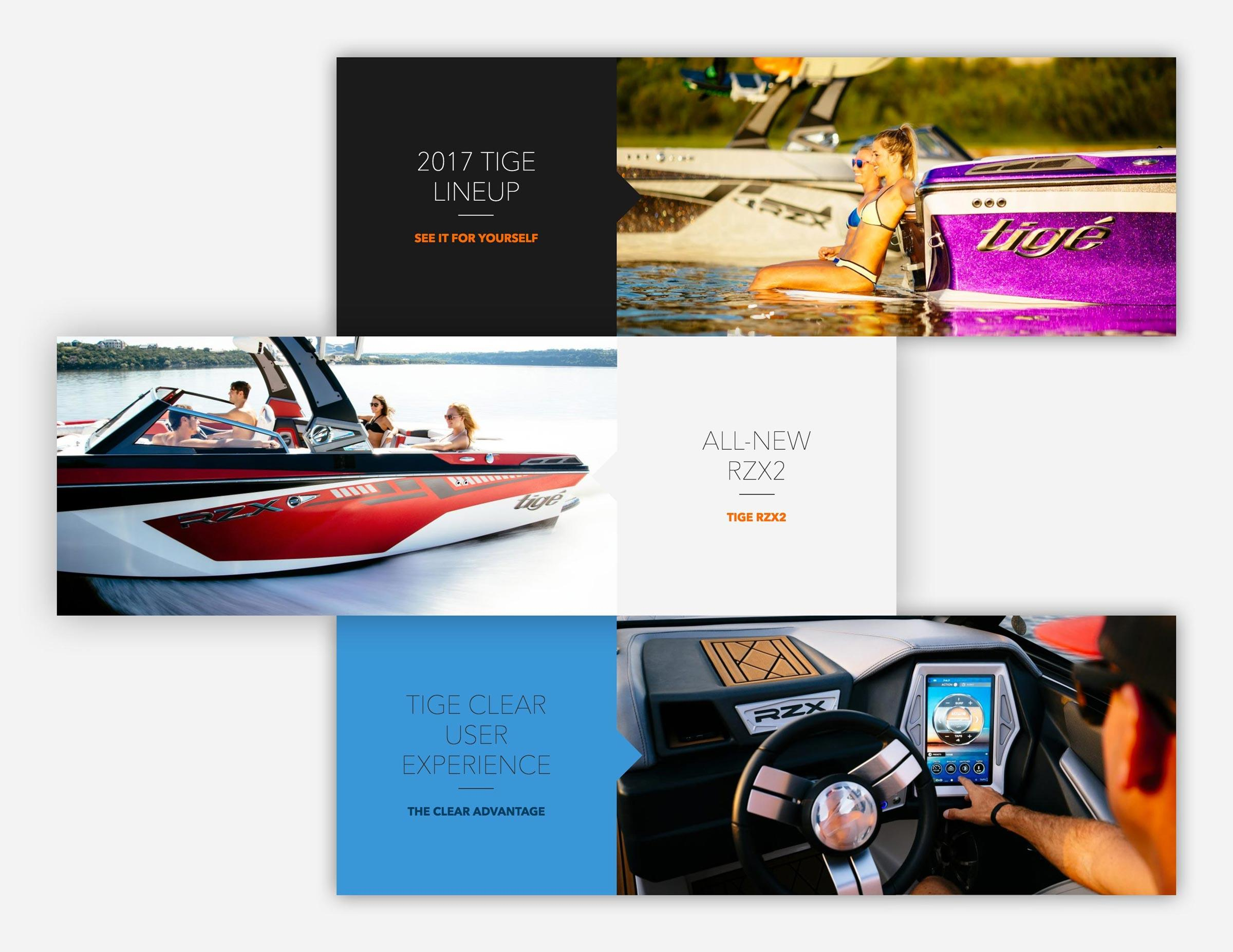 Website Design for Tige Boats