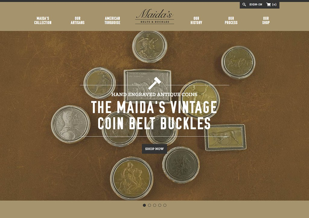 Web Design for Maidas Belts