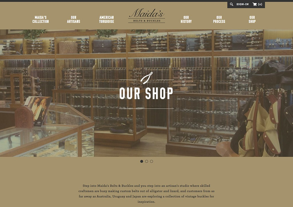 Website Design for Belt Company
