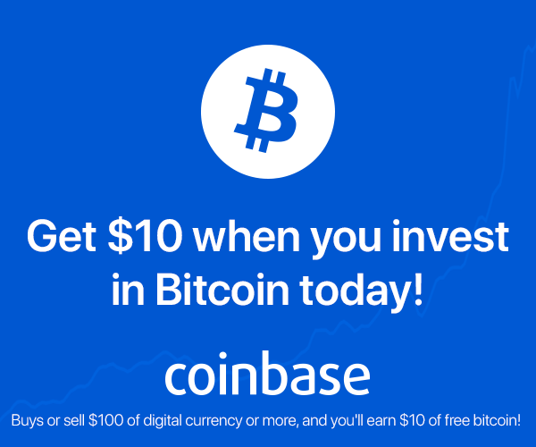 Buys or sell $100 of digital currency or more, and you'll earn $10 of free bitcoin!
