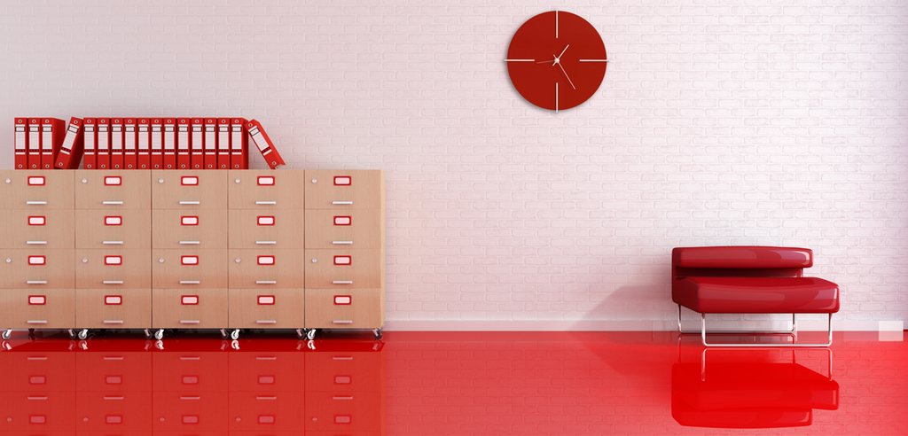 red documents room