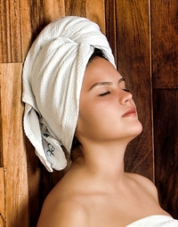 woman sauna headshot