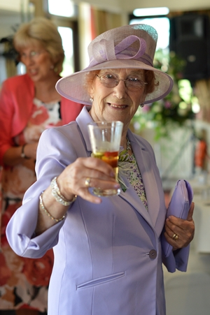 grandmother toasting