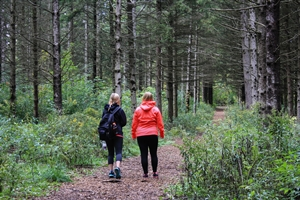 Girls on Walking Trail
