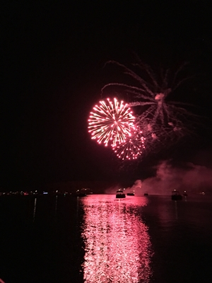 Fireworks from Lake