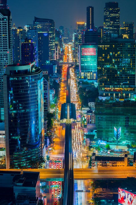 Bangkok city view by night