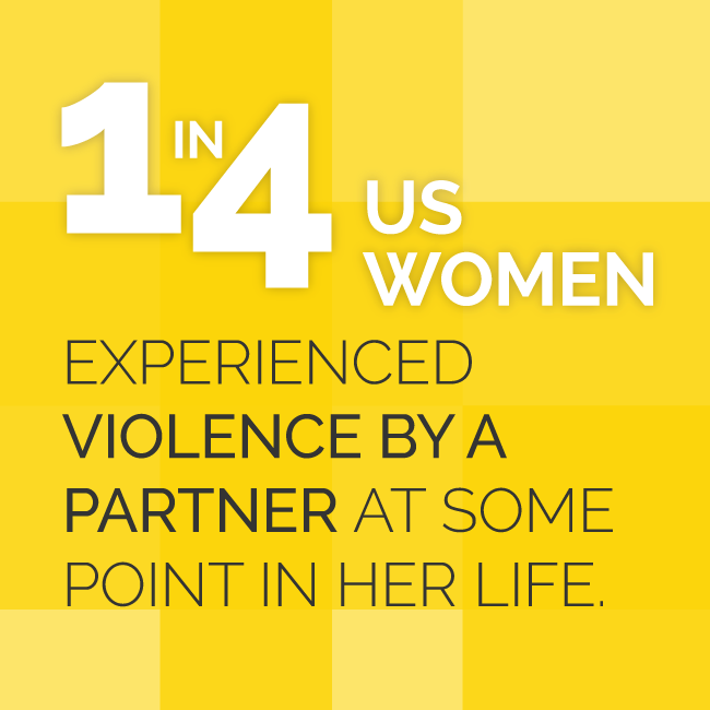 1 in 4 Women Experience Violence By A Partner