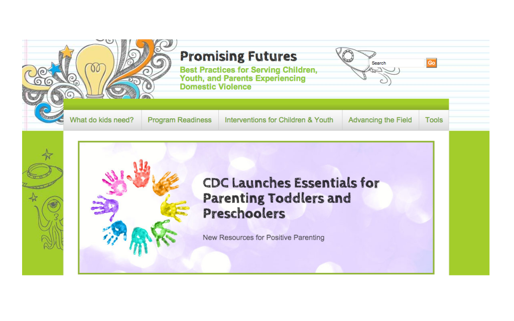 Promising Futures Website Screen Shot