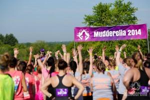 Mudderella start line
