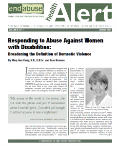 Abuse Against Women with Disabilities Cover