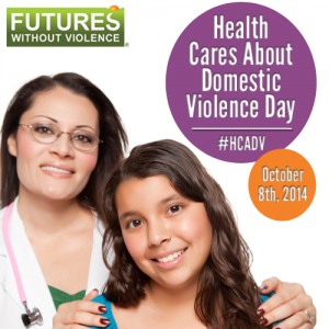Health Cares About Domestic Violence Day Graphic