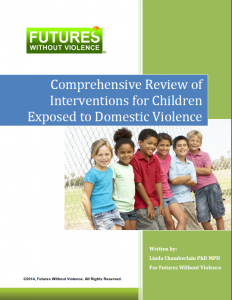 Cover page of Comprehensive Review of Interventions for Children Exposed to Domestic Violence