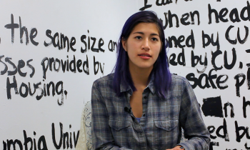 Student activist against college sexual assault