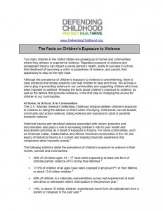 The Facts on Children's Exposure to Violence Image