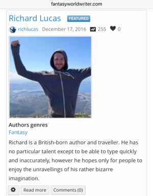 Author want to be noticed? Submit a free author listing or upgrade for more