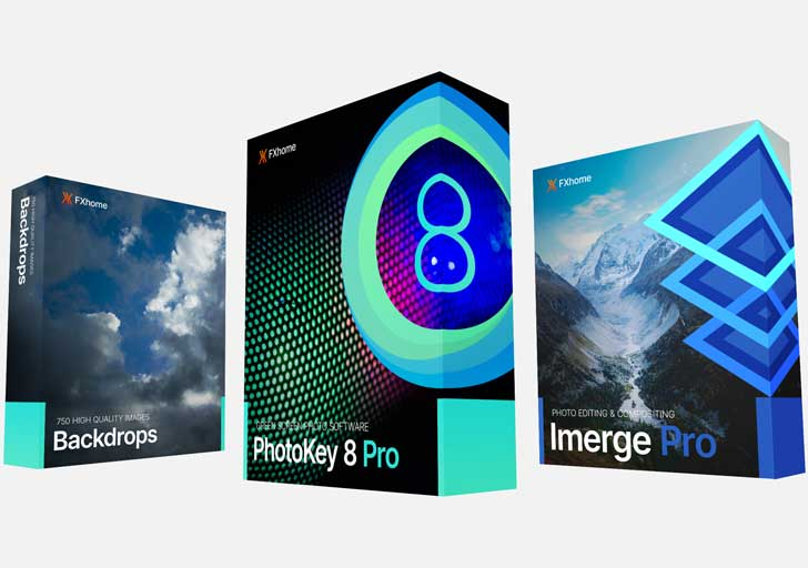 Professional photographer bundle: PhotoKey 8 Pro, Imerge Pro, stock images