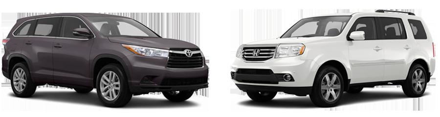 2015-Toyota-Highlander-vs-Honda-Pilot
