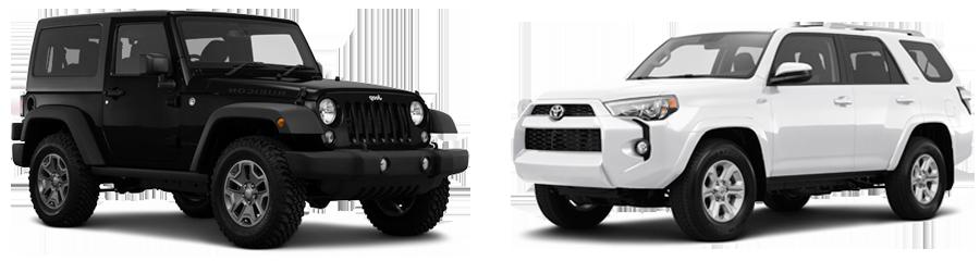 2015 Jeep Wrangler vs. Toyota 4Runner in Opelika, AL   Opelika Ford