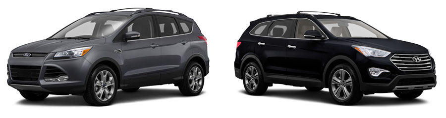 Santa Fe Ford >> 2015 Ford Escape Vs Hyundai Santa Fe Sport In Chiefland Fl