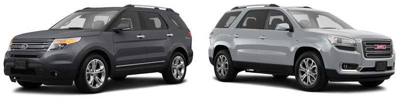 2015 ford explorer vs gmc acadia chiefland fl chiefland ford. Black Bedroom Furniture Sets. Home Design Ideas