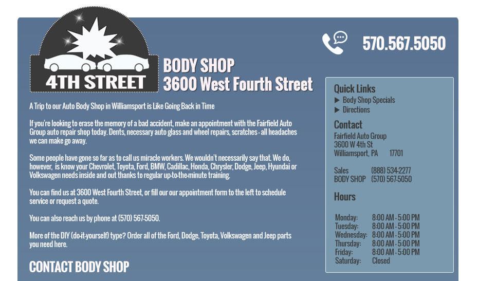 Body Shop 4th Street Fairfield Auto Group