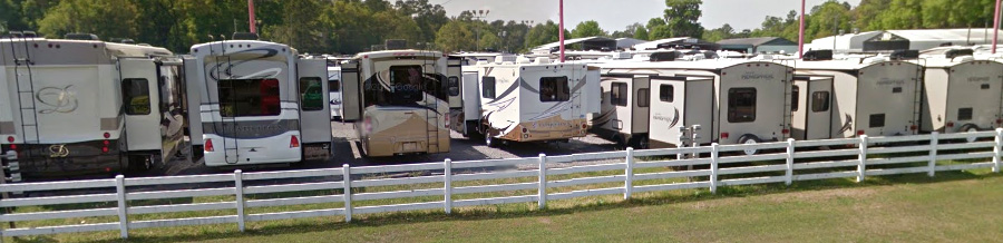 Rows of RVs