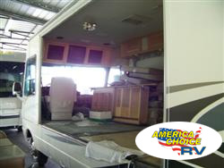 America's Choice RV, slide out water damaged floor repair