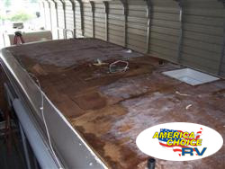 America's Choice RV, roof material repairs or replacement on motorized and towable RV's