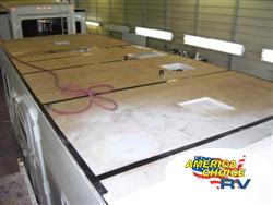 America's Choice RV, roof material repairs